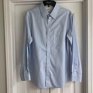 Roundtree & Yorke Slim Fit Blue Dress Shirt 16/33